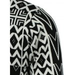 Geometric Pattern V-Neck Single-Breasted Cardigan for sale