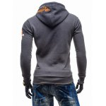cheap Graphic Print Hooded Long Sleeve Color Block Hoodie