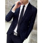 Lapel Single Breasted Camouflage Blazer