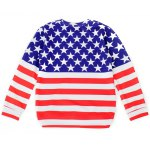 cheap Striped and Stars Loose Sweatshirt