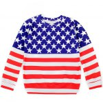Striped and Stars Loose Sweatshirt
