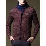 Roll Neck Button Embellished Pullover Sweater