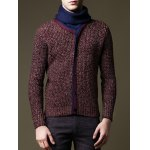Roll Neck Button Embellished Pullover Sweater deal