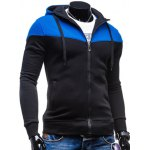 cheap Color Block Splicing Design Hooded Long Sleeve Zip-Up Hoodie