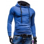 cheap Side Zip Up Drawstring Pullover Hoodie