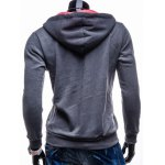 cheap Graphic Print Hooded Long Sleeve Zip-Up Hoodie