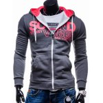 Graphic Print Hooded Long Sleeve Zip-Up Hoodie