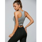 Casual Yarn Patch Sport Racerback Tanks for sale