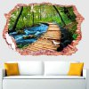 cheap 3D Stereo Nature Landscape Removable Wall Decals