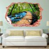 3D Stereo Nature Landscape Removable Wall Decals for sale