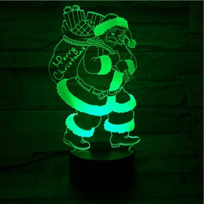 3D Illusion Christmas Santa 7 Color Changing LED Gift Night Light