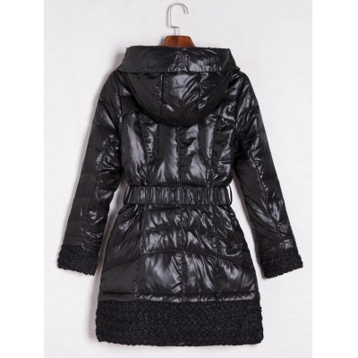 Belted Hooded Quilted CoatJackets &amp; Coats<br>Belted Hooded Quilted Coat<br><br>Clothes Type: Padded<br>Material: Polyester<br>Type: Slim<br>Clothing Length: Long<br>Sleeve Length: Full<br>Collar: Hooded<br>Pattern Type: Patchwork<br>Embellishment: Pockets<br>Style: Fashion<br>Season: Fall,Winter<br>Weight: 0.956kg<br>Package Contents: 1 x Coat