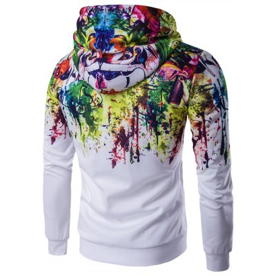 Zip-Up Paint Splash HoodieMens Hoodies &amp; Sweatshirts<br>Zip-Up Paint Splash Hoodie<br><br>Material: Cotton,Polyester<br>Clothing Length: Regular<br>Sleeve Length: Full<br>Style: Casual<br>Weight: 0.600kg<br>Package Contents: 1 x Hoodie