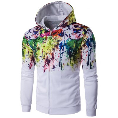 Paint Splash Zip Up Hoodie