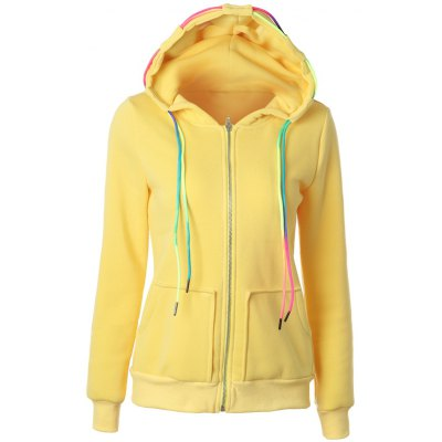 Drawstring Pullover Zipper Up Hoodie