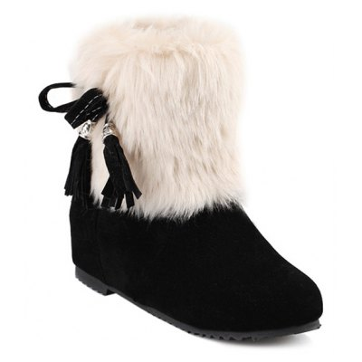 Faux Fur Increased Internal Snow Boots
