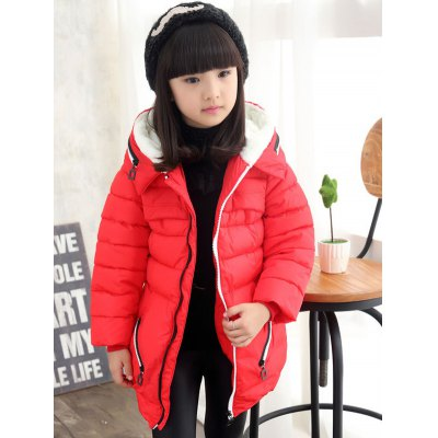 Girls Hooded Long Coat
