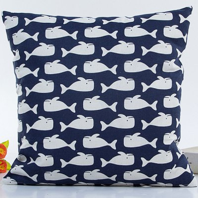 Small Throw Pillow Cases : Decorative Household Small White Sharks Pillow Case-4.78 Online Shopping GearBest.com