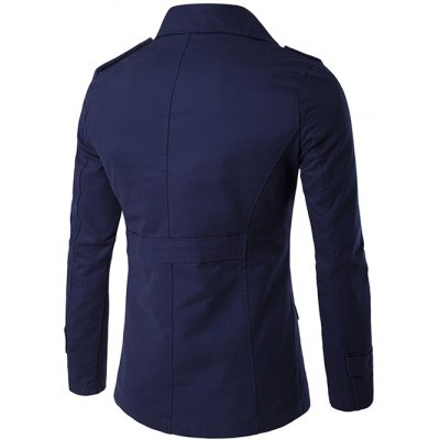 Single Breasted Epaulet Design Wind CoatMens Jackets &amp; Coats<br>Single Breasted Epaulet Design Wind Coat<br><br>Clothes Type: Jackets<br>Style: Casual<br>Material: Cotton,Polyester<br>Collar: Turn-down Collar<br>Clothing Length: Regular<br>Sleeve Length: Long Sleeves<br>Season: Fall,Winter<br>Weight: 0.810kg<br>Package Contents: 1 x Coat