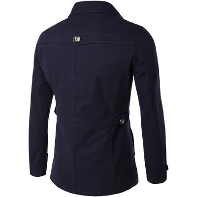 Single Breasted Zipper Pocket Epaulet CoatMens Jackets &amp; Coats<br>Single Breasted Zipper Pocket Epaulet Coat<br><br>Clothes Type: Jackets<br>Style: Casual<br>Material: Cotton,Polyester<br>Collar: Turn-down Collar<br>Clothing Length: Regular<br>Sleeve Length: Long Sleeves<br>Season: Fall,Winter<br>Weight: 0.800kg<br>Package Contents: 1 x Coat