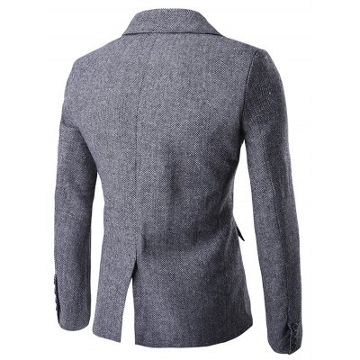 Back Vent Asymmetrical Button Up Herringbone CoatMens Jackets &amp; Coats<br>Back Vent Asymmetrical Button Up Herringbone Coat<br><br>Clothes Type: Wool &amp; Blends<br>Style: Fashion<br>Material: Polyester<br>Fabric Type: Herringbone<br>Collar: Turn-down Collar<br>Clothing Length: Long<br>Sleeve Length: Long Sleeves<br>Season: Winter<br>Weight: 0.770kg<br>Package Contents: 1 x Coat