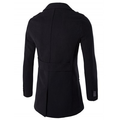 Epaulet Design Button Pocket Single Breasted CoatMens Jackets &amp; Coats<br>Epaulet Design Button Pocket Single Breasted Coat<br><br>Clothes Type: Wool &amp; Blends<br>Style: Fashion<br>Material: Polyester<br>Collar: Turn-down Collar<br>Clothing Length: Long<br>Sleeve Length: Long Sleeves<br>Season: Winter<br>Weight: 1.180kg<br>Package Contents: 1 x Coat