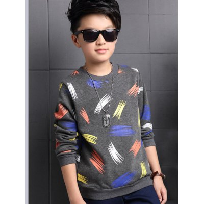 Long Sleeve Crew Neck Printed T Shirt