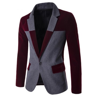Notch Lapel Two Tone One-Button Blazer