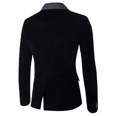 Back Vent Notch Lapel Two Tone One-Button BlazerMens Blazers<br>Back Vent Notch Lapel Two Tone One-Button Blazer<br><br>Closure Type: Single Breasted<br>Clothing Length: Regular<br>Material: Polyester<br>Package Contents: 1 x Blazer<br>Sleeve Length: Long Sleeves<br>Weight: 0.800kg