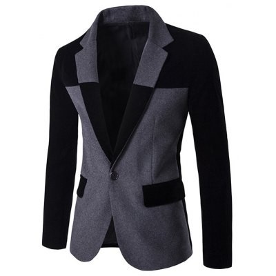 Back Vent Notch Lapel Two Tone One-Button Blazer