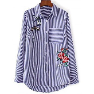 Breast Pocket Striped Shirt