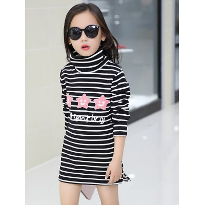 Casual Girls Long Sleeve Striped Mini DressGirls Clothing<br>Casual Girls Long Sleeve Striped Mini Dress<br><br>Style: Casual<br>Material: Polyester<br>Silhouette: Straight<br>Dresses Length: Mini<br>Neckline: Turtleneck<br>Sleeve Length: Long Sleeves<br>Pattern Type: Striped<br>With Belt: No<br>Season: Fall,Spring<br>Weight: 0.257kg<br>Package Contents: 1 x Dress