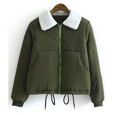 Borg Collar Quilted Winter Jacket