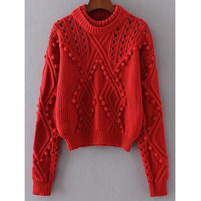 Cable Knit Cut Out Loose Sweater