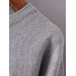 cheap Buttoned Color Block Loose Sweater