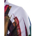 Long Sleeve Paint Dripping Printed Zippered Hoodie deal