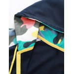 Camouflage Splicing Embroidered Hooded Zip-Up Hoodie deal