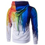 cheap Zip Up Long Sleeve Paint Dripping Printing Hoodie