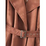 Faux Suede Trench Coat deal