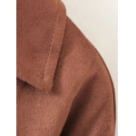 best Faux Suede Trench Coat