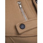 best Zippered Back Vent Button Tab Cuff Pea Coat