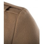 Zippered Back Vent Button Tab Cuff Pea Coat deal