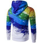 cheap Paint Splash Printed Zip-Up Hoodie