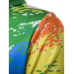 Paint Splash Printed Zip-Up Hoodie deal