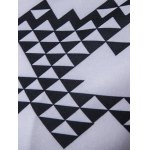 Geometric Printed Zip-Up Black and White Hoodie men for sale