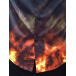 Flame Print Slim Long Sleeve Shirt photo