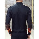 Flame Print Slim Long Sleeve Shirt deal