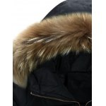 Faux Fur Collar Hooded Lengthen Zip-Up Padded Coat deal