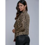 Lapel Leopard Blazer for sale