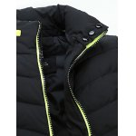 Stand Collar Thicken Zip-Up Down Jacket deal